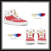 BUSCEMI Casual Style Street Style Plain Leather Low-Top Sneakers