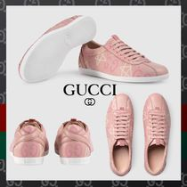 GUCCI Gucci Ghost Round Toe Rubber Sole Casual Style Low-Top Sneakers
