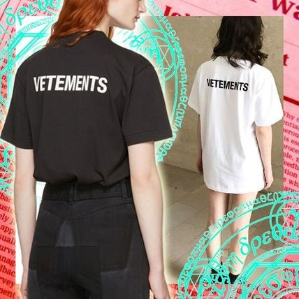 VETEMENTS Crew Neck Street Style Cotton Medium Short Sleeves T-Shirts