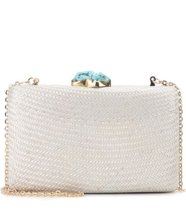 With Jewels Straw Bags