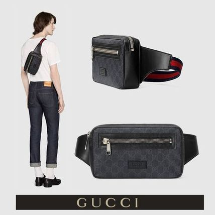 GUCCI Monoglam Street Style Leather Hip Packs