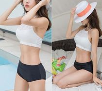 Plain Halter Swimwear