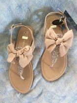 Primark Open Toe Faux Fur Plain Elegant Style Sandals Sandal