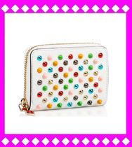 Christian Louboutin Panettone  Calfskin Studded Coin Cases