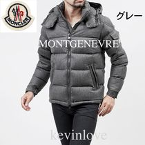 MONCLER MONTGENEVRE Short Unisex Wool Plain Down Jackets