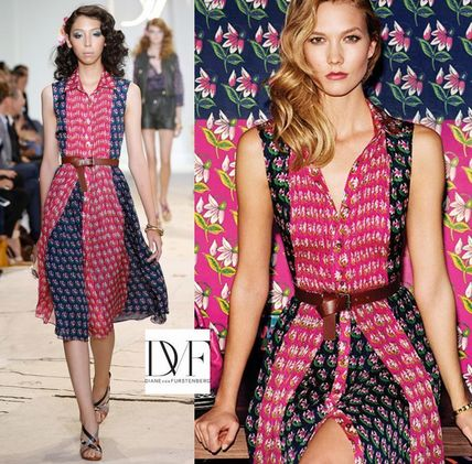 Runway Look Diane Flower Pattern dress NIEVES