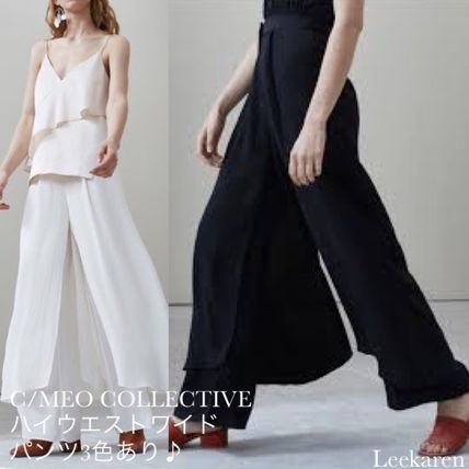 Plain Long Elegant Style Pants