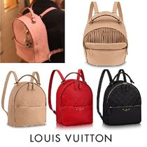 Louis Vuitton MONOGRAM EMPREINTE Louis Vuitton Monoglam Plain Leather Backpacks SORBONNE