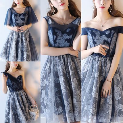 4 Type Party Dress Organdy Floral Pattern
