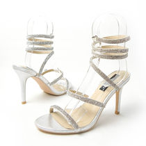 Open Toe Pin Heels Party Style Heeled Sandals