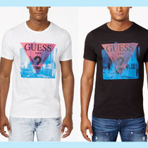 Guess Crew Neck Cotton Short Sleeves Crew Neck T-Shirts