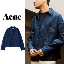 Acne Short Unisex Denim Plain Denim Jackets Jackets