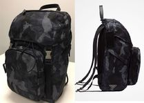 PRADA Camouflage Nylon A4 2WAY Backpacks