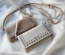 PRADA SAFFIANO LUX Saffiano Plain With Jewels Long Wallets