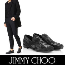 Jimmy Choo Camouflage Plain Toe Leather Loafers & Slip-ons