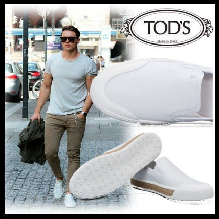 Magazines published TOD'S leather white Slip-on