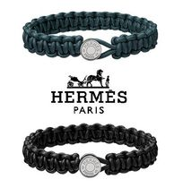 HERMES Unisex Plain Leather Bracelets