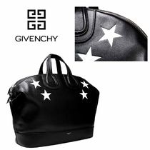 GIVENCHY NIGHTINGALE Star Calfskin Street Style Plain Totes