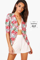 boohoo Flower Patterns Tropical Patterns Casual Style Jackets