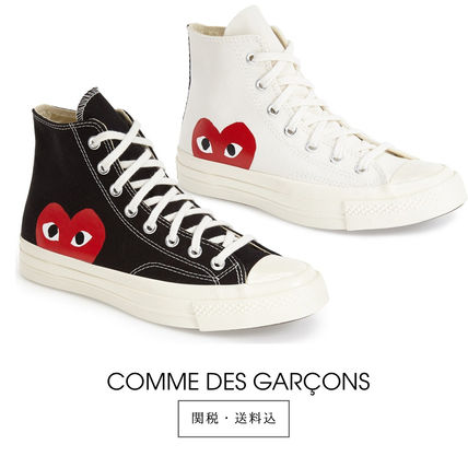 COMME des GARCONS Plain Toe Unisex Collaboration Plain Sneakers