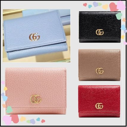 new product 983ee 2b9db GUCCI 2017-18AW Plain Leather Focused Brands Folding Wallets (474746 CAO0G  1000, 474746 CAO0G 6433, 474746 CAO0G 5909, 474746 CAO0G 5729)