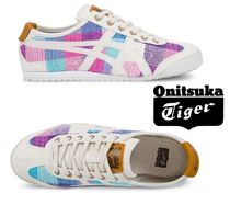 Onitsuka Tiger Plain Toe Rubber Sole Lace-up Casual Style Street Style