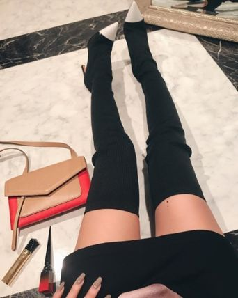 Meg baby GIVENCHY stretch knit knee high boots