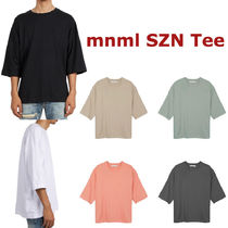 MNML Crew Neck Pullovers Street Style Plain Cotton Short Sleeves