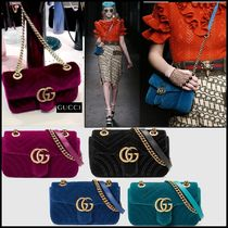 GUCCI GG Marmont 3WAY Plain Elegant Style Party Bags