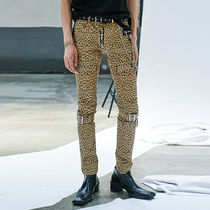 ANOTHERYOUTH Leopard Patterns Unisex Skinny Fit Pants