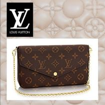 Louis Vuitton Monogram Canvas Chain Long Wallets