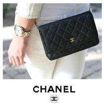 CHANEL MATELASSE Plain Party Style Party Bags