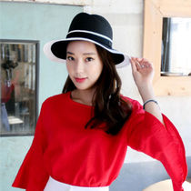 Casual Style U-Neck Plain Medium Short Sleeves