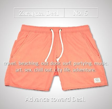 Overseas common sense Zaragoza Desl Short length swim pants