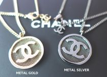 CHANEL ICON Costume Jewelry Casual Style Chain Necklaces & Pendants
