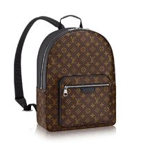 Louis Vuitton MONOGRAM MACASSAR Monogram Unisex A4 Leather Backpacks