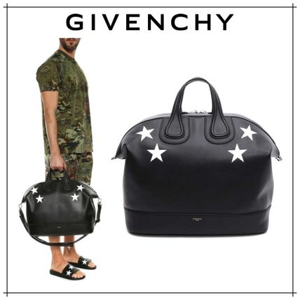 GIVENCHY NIGHTINGALE 2WAY Leather Boston Bags