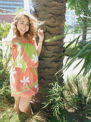 Short Tropical Patterns Casual Style Dresses