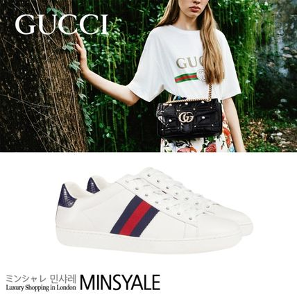 GUCCI Ace leather low-topsneaker[London department store new item]