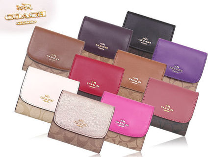 finest selection f246d 5c11d Coach Leather Folding Wallets (F87589)
