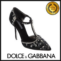 Dolce & Gabbana Plain Pin Heels Party Style With Jewels