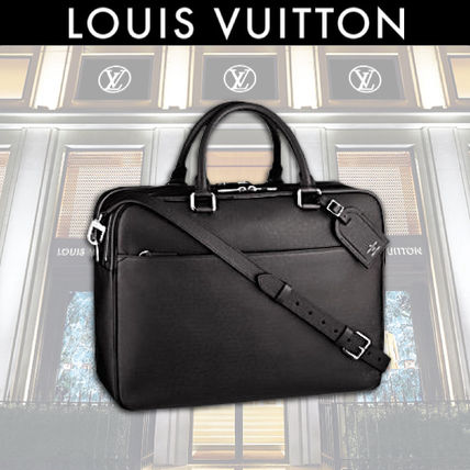 LV 17SS Fine Leather Rich Taiga Business Bag