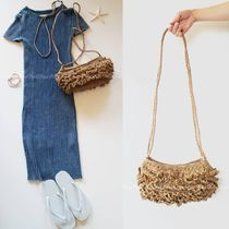 Ron Herman Plain Straw Bags