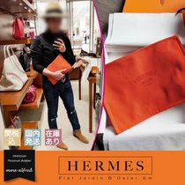 HERMES Casual Style Unisex Canvas Bag in Bag Plain Clutches