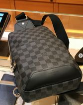Louis Vuitton DAMIER GRAPHITE Other Plaid Patterns 2WAY Leather Messenger & Shoulder Bags