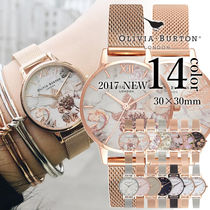 Olivia Burton Metal Round Quartz Watches Elegant Style Analog Watches