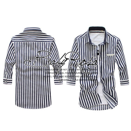 Shirts Button-down Stripes Cropped Plain Shirts 4
