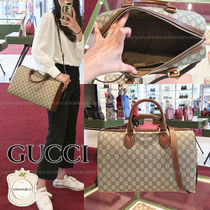 GUCCI Monogram Canvas 2WAY Boston & Duffles