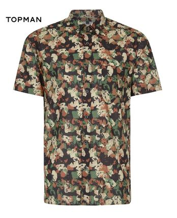 TOPMAN Camouflage Short Sleeves Shirts