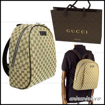 GUCCI Monoglam Casual Style Cambus Backpacks
